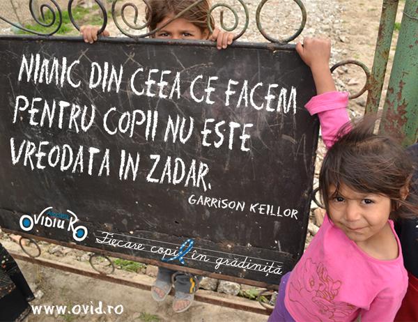 RO nimic din ceea ce facem pentru copii nu este vreodata in zadar