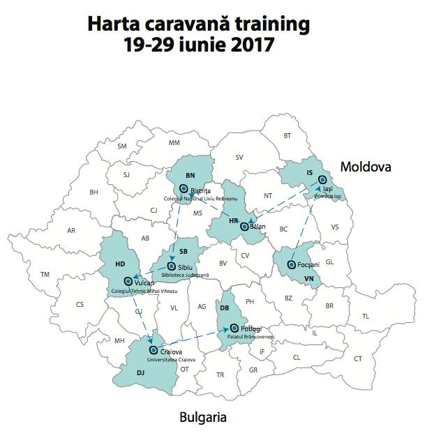 harta caravana training 19-29 iunie 2017